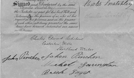 Last Will of Charles Scratchley of Market Lavington