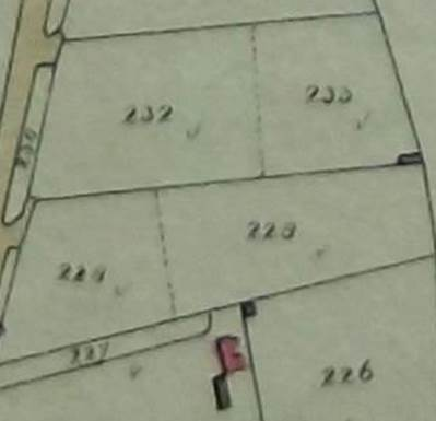 Plot 229 on the tithe map