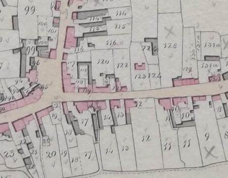 A little bit of High Street on the 1840 tithe map