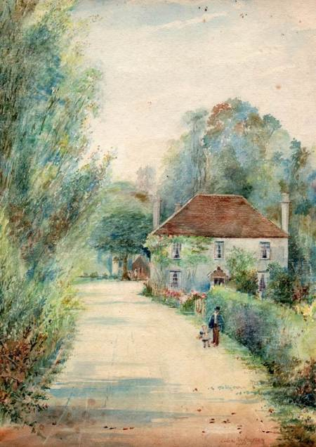 Russell Mill from a 1921 water colour