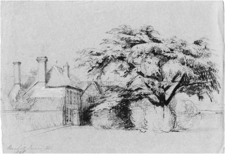 The Old House, Market Lavington - a sketch by Philip Wynell mayow