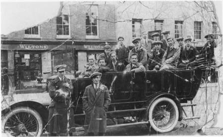A charabanc trip in about 1930. Probably a football outing.