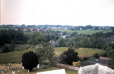 View (roughly to the north) from the church tower in 1977