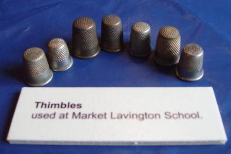 Thimbles from Market Lavington School