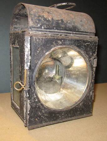 A 19th century carriage lamp at market Lavington Museum