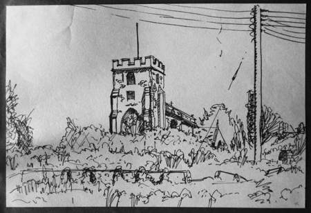 A sketch of St Mary's Church but by whom and when was it drawn?