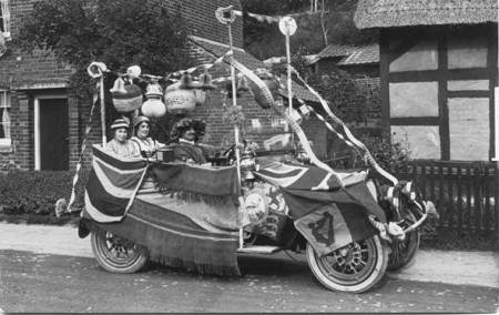 Decorated car in Easterton High Street - 1921 Hospital Week