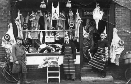 The Butcher's Shop in Market Lavington - 1936