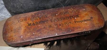 A M Walton boot brush at Market Lavington Museum