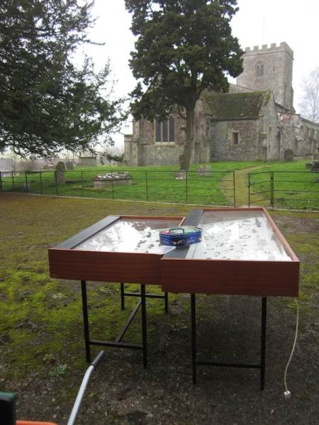 Museum display in the churchyard!