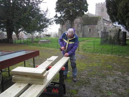 A plinth is built - strong enough to support a house!