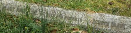 The inscription could easily be covered when the grass grows