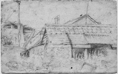 The Shoeing Shed A 1940s sketch by Judy Livyer