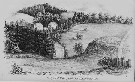 Ladywood Vale - an 1855 sketch by H Atley