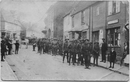 Australian soldiers in Market Lavington in 1916