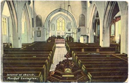 Lavington Church interior before the organ was moved