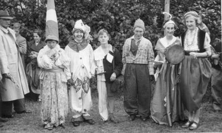 Youngsters in fancy dress celebrate the Coronation of Queen Elizabeth II in 1953