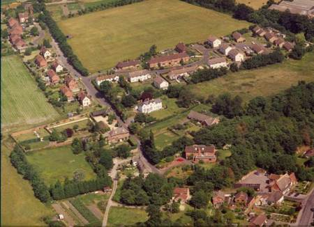 Oak Lane, Easterton, from the air