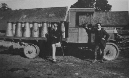 Laurie Plank of Parsonage Lane was West Park Farm's one legged dairyman