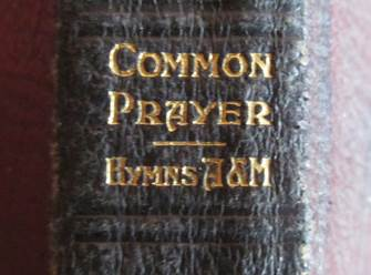 It's a Book of Common Prayer