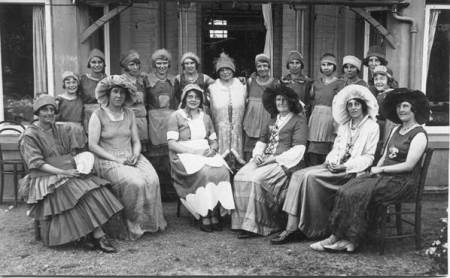 Women at a garden party at Brook House - August 17th 1932
