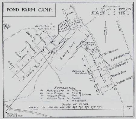 Plan of layout of Pond Farm Camp in 1908