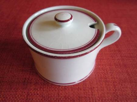 A mustard pot with full local provenance
