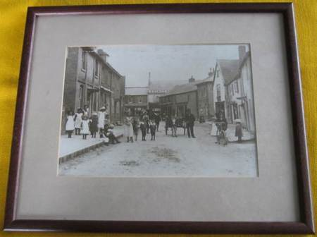 Framed photo of Church Street - about 1905