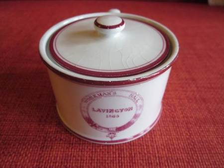 This is market Lavington Workman's Hall crockery