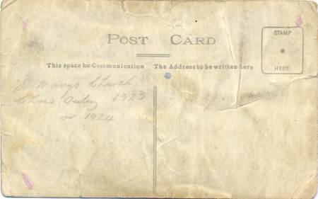 A rather battered postcard