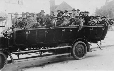 Royal Antediluvian Order of Buffalos outing to Bournemouth in Market Lavington