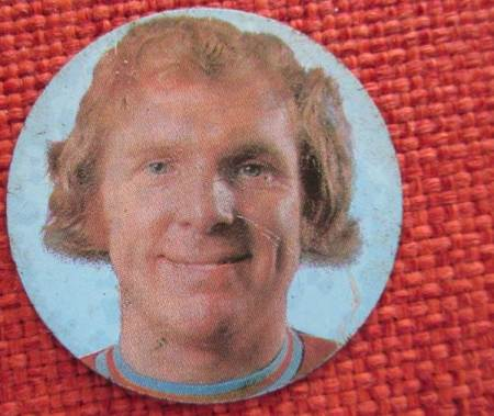 Bobby Moore football token dating from 1972