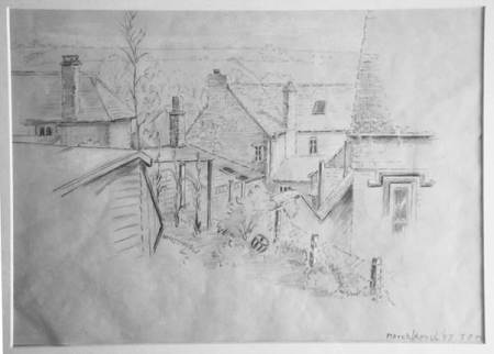 A Patrick Manley sketch of Market Lavington