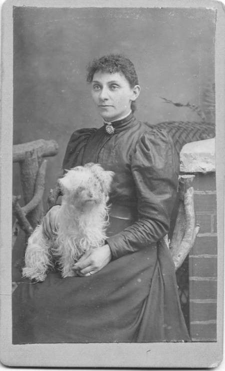 Here We Have A Fabulously Sharp Image Although The Dog May Human Thumb Print Across Its Face Both Images Are Carte De Visite CDV Size And