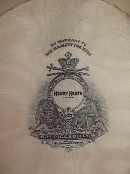 Henry Heath mark inside the hat