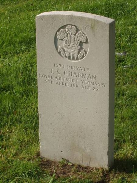 Jasper Chapman's Grave at the Drove Lane Cemetery in Market Lavington