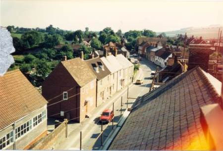 High Street from the roof of the Workman's Hall - 1980s