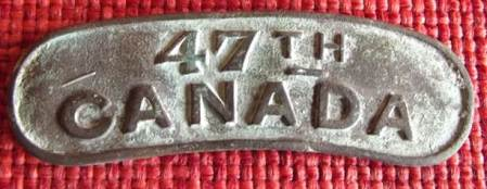 47th Canada shoulder flash dating from 1915/16