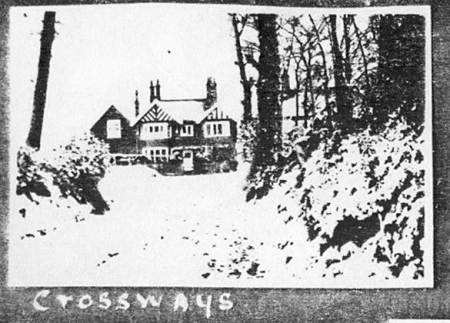 Crossways in the snow in 1923/24