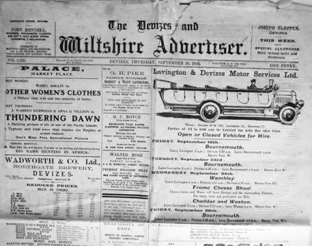 Devizes and Wiltshire Advertiser - September 18th 1924