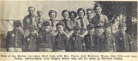 Cubs off to camp in 1951