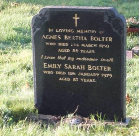 Bolter grave in Market Lavington