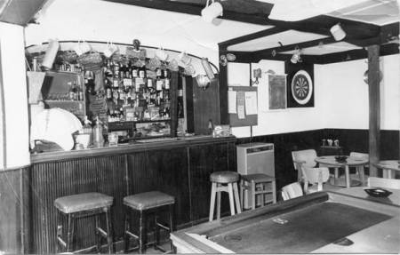 The bar at the Volunteer Arms in 1967