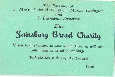Sainsbury Bread Charity ticket