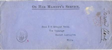 Envelope containing documents concerning the Townsend Charity