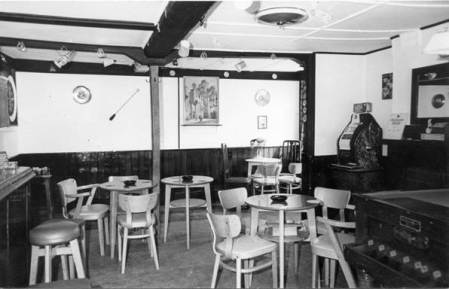 The seating area at the old Volley