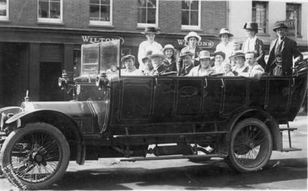A charabanc in Salisbury - 1923