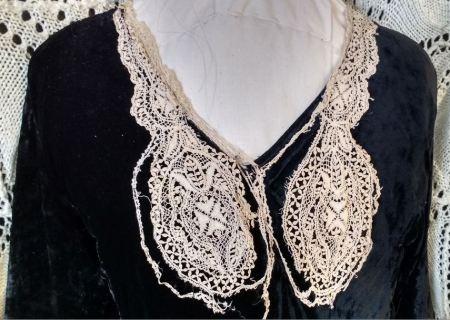 black velvet dress lace