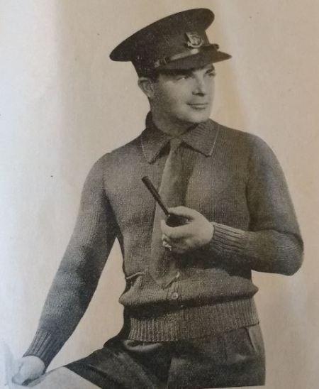 Services knitwear 6 Man's service jacket, Godfrey